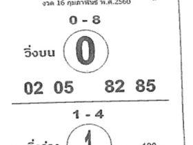 หวยซอง ม้าสีหมอก งวด 16 กุมภาพันธ์ 2560 ตีเลขเด็ด