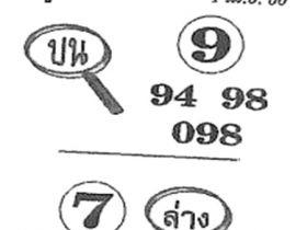 หวยซอง ซุปเปอร์แม่น งวด 1 เมษายน 2560