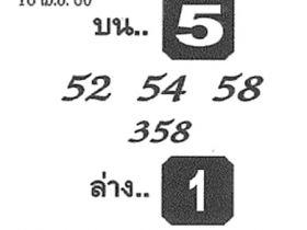 หวยซอง จอมขมังเวทย์ งวด 16 เมษายน 2560