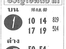 เลขเด็ด ขวัญใจคนยาก งวด 16 กันยายน 2560
