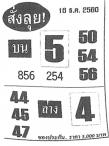 เลขเด็ดสั่งลุย งวด 16 ธันวาคม 2560