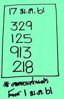 เลขดัง คมชอบส่วนตัว ชุดสามตัว ประจำงวดประจำวันที่ 17 มกราคม 2561