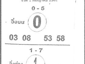 เลขเด็ดม้าสีหมอก งวด 1 กรกฎาคม 2561 หวยม้าสีหมอก 1 ก.ค.61