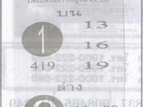 เลขเด็ดฟันธง งวด 1 กรกฎาคม 2561 หวยฟันธง 1 ก.ค.61