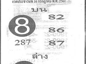 เลขเด็ดฟันธง งวด 16 กรกฎาคม 2561 หวยฟันธง 16 ก.ค.61