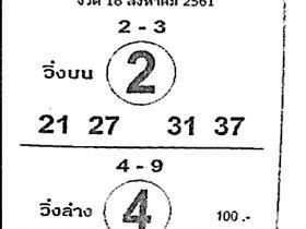 เลขเด็ดม้าสีหมอก หวยเด็ดม้าสีหมอก งวด 16 สิงหาคม 2561