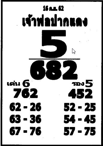 เลขเด็ดหลวงพ่อปากแดง งวด 16 กันยายน 2562