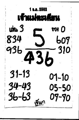 เลขเด็ดเจ้าแม่ตะเคียนทอง งวด 1 ตุลาคม 2562